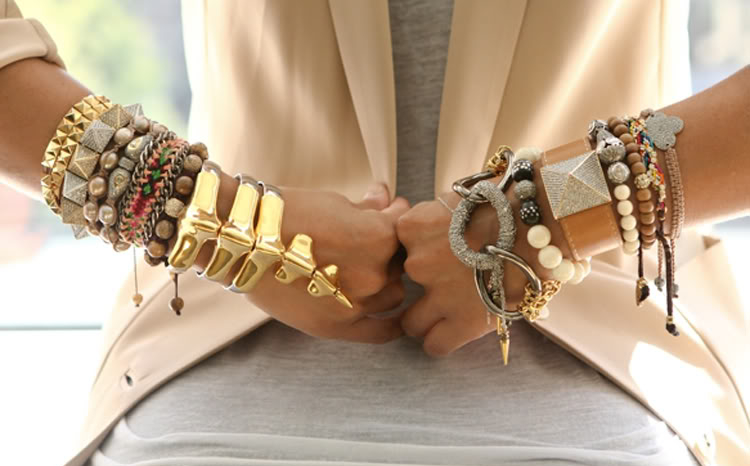 Stacked Bracelets Arm Party
