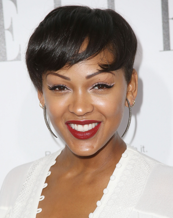 Enjoyable Pictures Great Black Celebrity Short Haircuts Meagan Good Natural Hairstyles Runnerswayorg