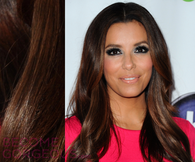 Eva Longoria Caramel Blonde Highlights