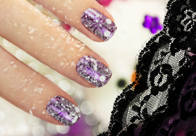 Pretty Lace Nail Art Ideas