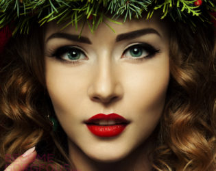Pin Up Style Makeup For Christmas
