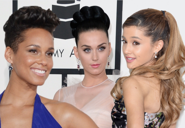 Grammy Awards 2014 Hairstyles and Makeup Looks