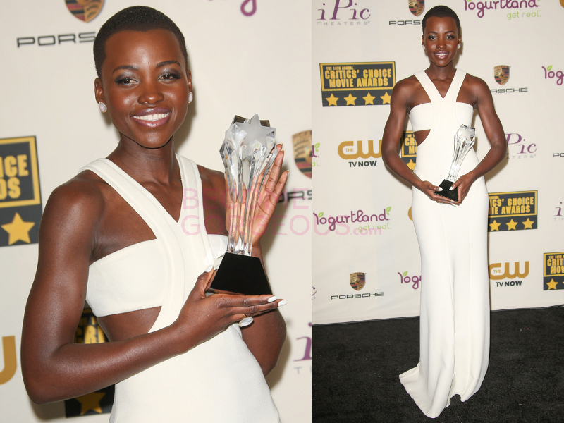 Lupita Nyongo 2014 Critics Choice Awards