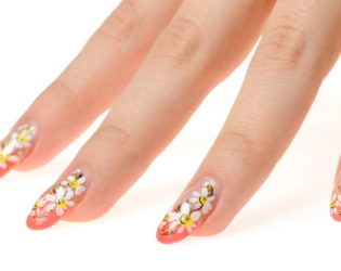 Nails With Floral Design