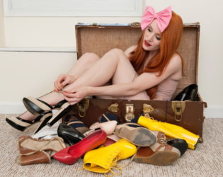 Chosing shoes for a clothing swap party