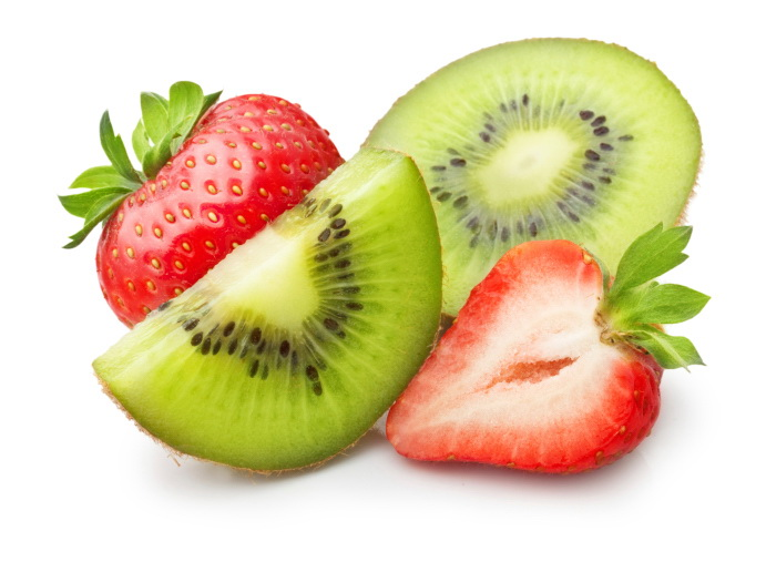 Strawberries And Kiwi For A Healthy Breakfast
