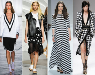 Black And White Spring 2014 Trends