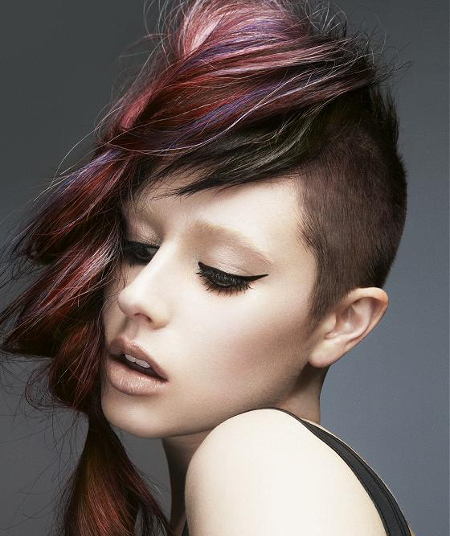 Edgy Ponytail Hairstyle By Mark Leeson