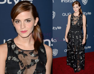 Emma Watson 2014 Golden Globes After Party