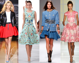 Full Skirt Spring 2014 Trends