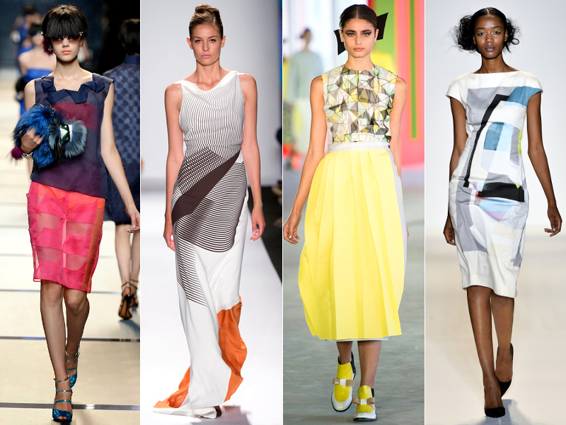 Geometic Prints Spring 2014 Trends