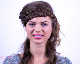 Hairstyle With 7 Strand Braid