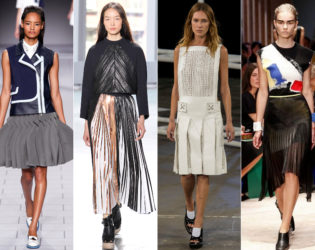 Pleated Skirts Spring 2014 Trends