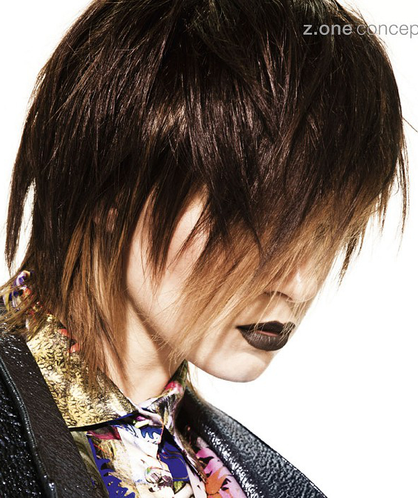 Straight Shag Haircut By Z One Concept