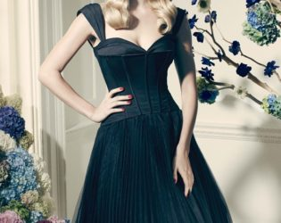 Black A Line Bridesmaid Dress By Truly Zac Posen For David's Bridal Collection
