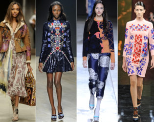 Folksy And Asian Print Fall 2014 Trends