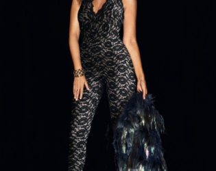 Kourtney In Lace Jumpsuit For Lipsy Spring 2014