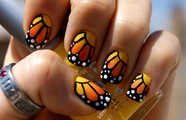 DIY Butterfly Nail Art