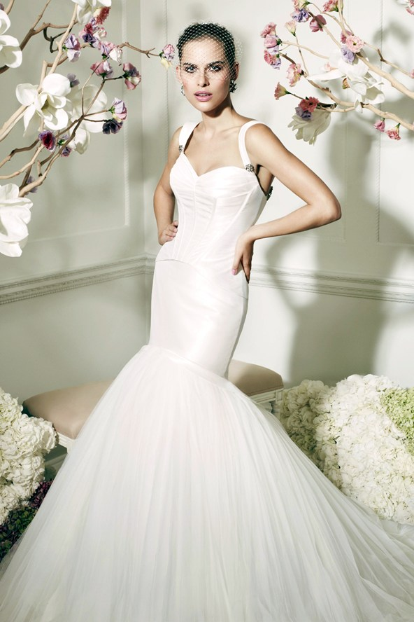 White Sired Wedding Dress By Truly Zac Posen For David's Bridal