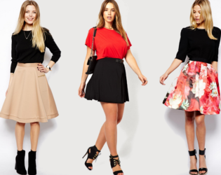 A Line Skirts For Petite Curvvy Women