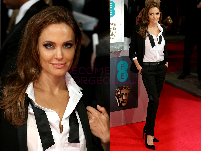 Angelina Jolie 2014 Bafta Red Carpet