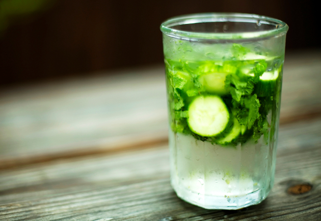 Cucumber Mint Flavored Water