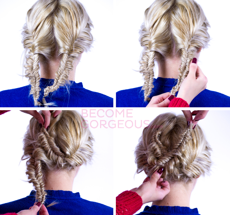 Double Braid Updo Tutorial