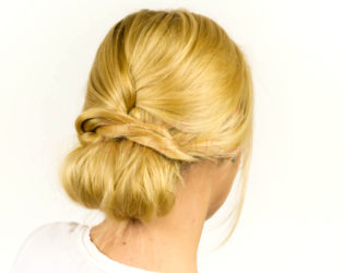 Finished Easy Updo Hairstyle