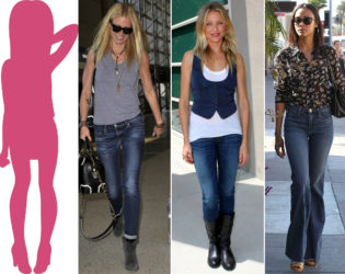 Jeans For Column Body Type