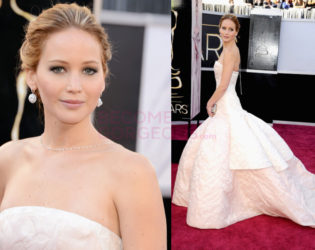 Jennifer Lawrence Dior Gown 2013 Academy Awards