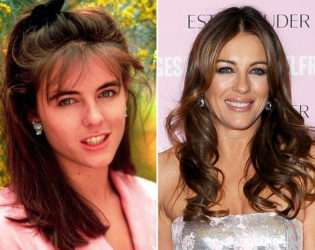 Liz Hurley Then And Now