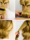 Rolled Up Bun Hairstyle
