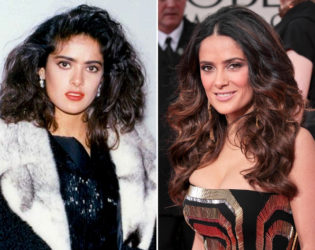 Salma Hayek Then And Now