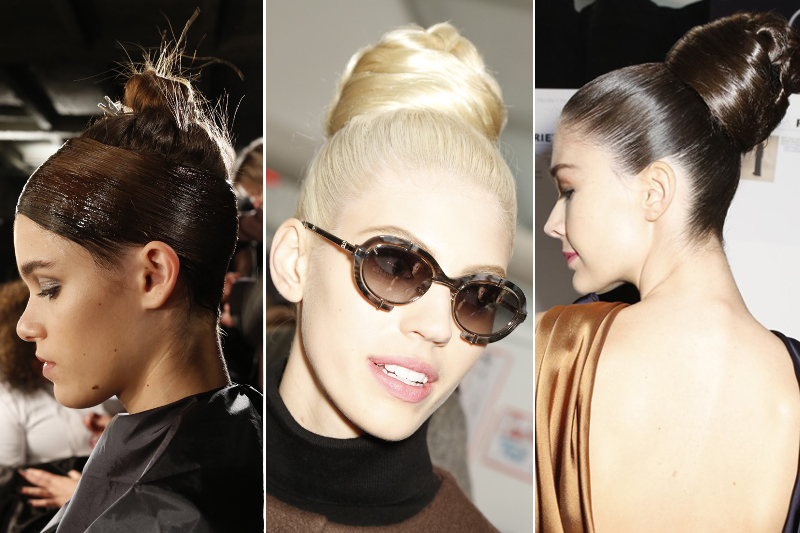 Slicked Updo Fall 2014 Hair Trends
