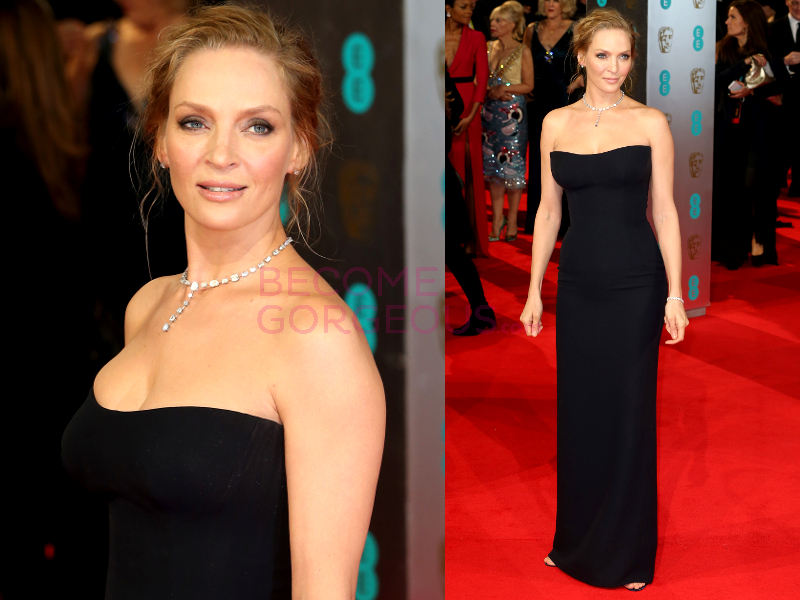 Uma Thurman 2014 Bafta Red Carpet