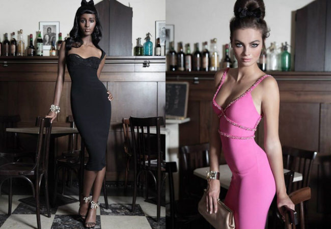 Dsquared2 Pink & Black Dresses 2014 Capsule Collection