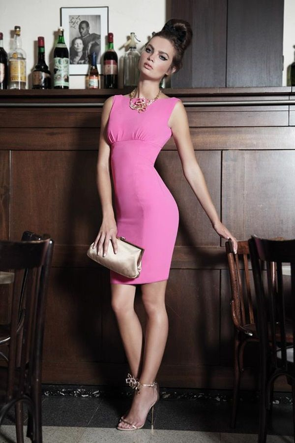 Dsquared2 Pink And Black Dresses 2014 Look  (11)