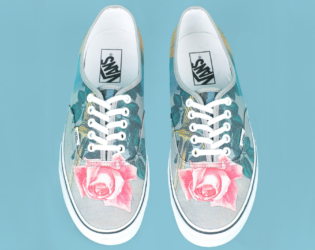 Floral Print Opening Ceremony Magritte Sneakers