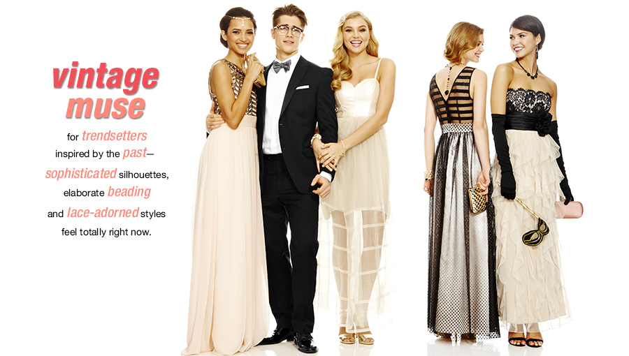 Macy's 2014 Prom Dresses Vintage Muse Style  (1)