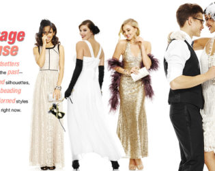 Macy's 2014 Prom Dresses Vintage Muse Style  (2)