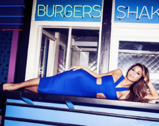 Nicole Scherzinger For Missguided Blue Dress