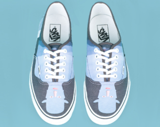 Shadow Print Opening Ceremony Magritte Sneakers