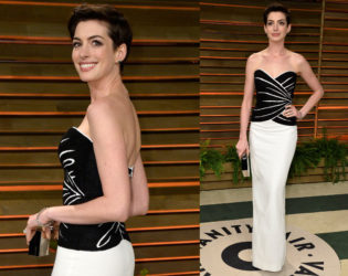 Anne Hathaway Oscars After Party 2014