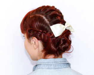 Braided Updo From The Side