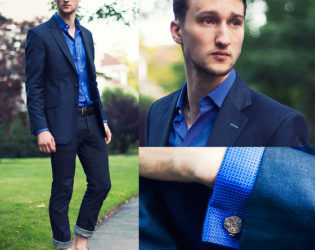 Cufflinks On Smart Casual Outfit