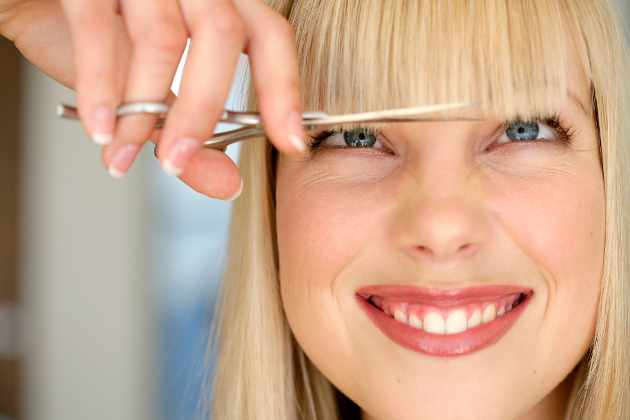 How To Cut and Trim You Own Bangs