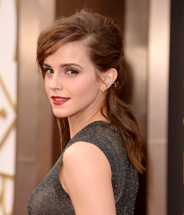Pictures : 2014 Oscars Celebrity Hairstyles - Emma Watson ...
