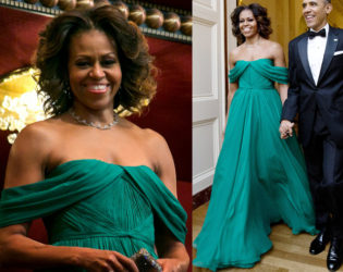 Michelle Obama Marchesa Green Gown