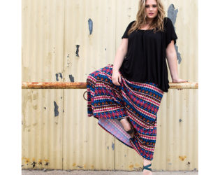 Plus Size Maxi Skirt Outfit