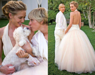 Portia De Rossi Wedding Dress